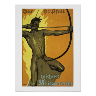 The 9th arrow, Austrian art nouveau world war I Poster