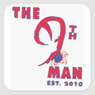 The 9th Man Square Stickers