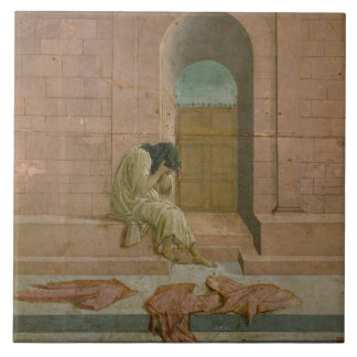 The Abandoned (oil on panel) Large Square Tile