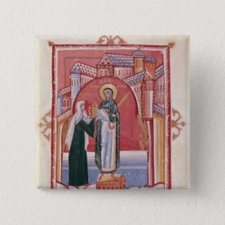 The Abbess Hilda offering 15 Cm Square Badge
