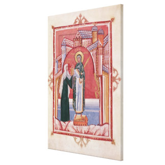The Abbess Hilda offering Canvas Print