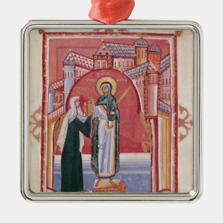 The Abbess Hilda offering Christmas Ornament