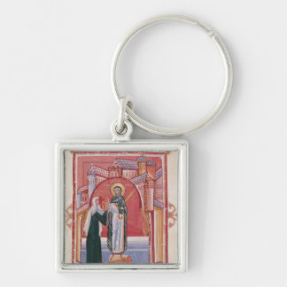 The Abbess Hilda offering Key Ring
