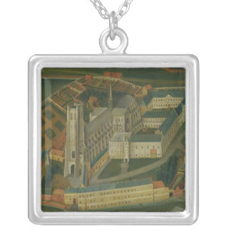 The Abbey of Saint-Bertin at Saint-Omer, 1776 Silver Plated Necklace