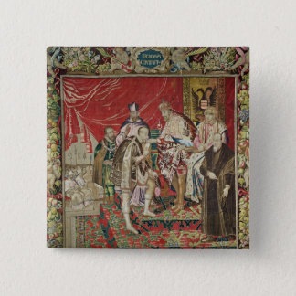 The Abdication of Charles V 15 Cm Square Badge