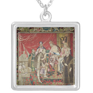 The Abdication of Charles V Silver Plated Necklace