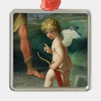 The Abduction of Helen, 1631 Silver-Colored Square Decoration