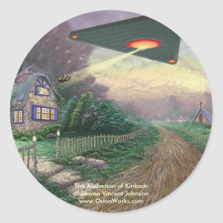The Abduction of Kinkade, The Abduction of Kink... Classic Round Sticker