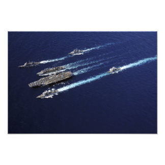 The Abraham Lincoln Carrier Strike Group ships Photo