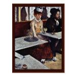 The Absinthe By Edgar Degas Postcard