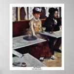 The Absinthe By Edgar Degas Poster