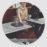 The Absinthe By Edgar Degas Stickers