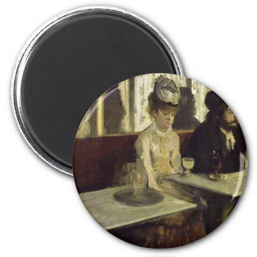 The Absinthe Drinker or L'Absinthe by Edgar Degas Fridge Magnets