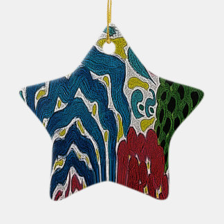 The Abstract garden Ceramic Star Decoration