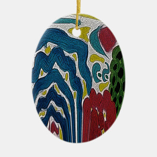 The Abstract garden Christmas Ornament