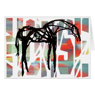 The Abstract Horse Card