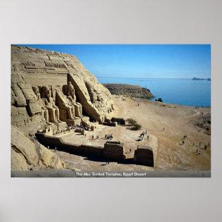 The Abu Simbel Temples, Egypt Desert Posters