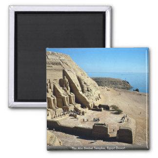 The Abu Simbel Temples, Egypt Desert Square Magnet