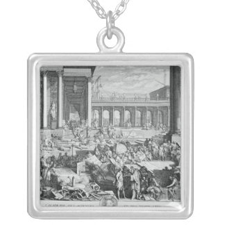 The Academy of Sciences and Fine Arts Silver Plated Necklace