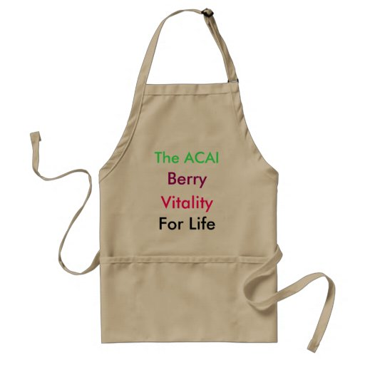The ACAI, Berry, Vitality , For Life Aprons