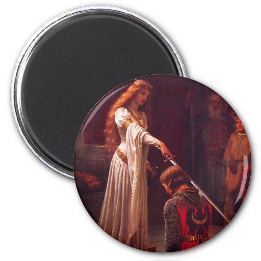 The Accolade by Edmund Blair Leighton Refrigerator Magnets