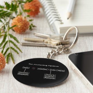 """The Accounting Equation"" Key Ring"