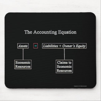 """""""The Accounting Equation"""" Mouse Pad"""