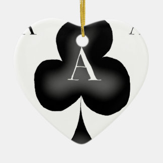 The Ace of Clubs by Tony Fernandes Ceramic Heart Decoration
