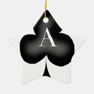 The Ace of Clubs by Tony Fernandes Ceramic Star Decoration