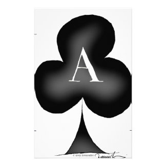 The Ace of Clubs by Tony Fernandes Personalised Stationery