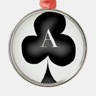 The Ace of Clubs by Tony Fernandes Silver-Colored Round Decoration
