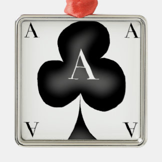 The Ace of Clubs by Tony Fernandes Silver-Colored Square Decoration