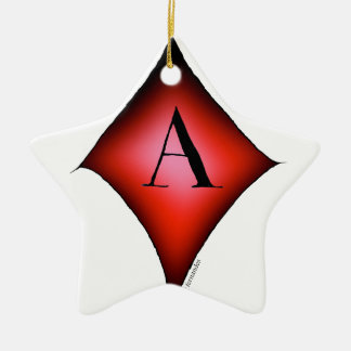 The Ace of Diamonds by Tony Fernandes Ceramic Star Decoration