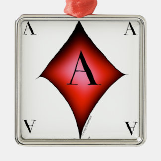 The Ace of Diamonds by Tony Fernandes Silver-Colored Square Decoration