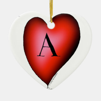 The Ace of Hearts by Tony Fernandes Ceramic Heart Decoration