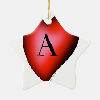 The Ace of Hearts by Tony Fernandes Christmas Ornament