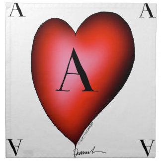 The Ace of Hearts by Tony Fernandes Napkin