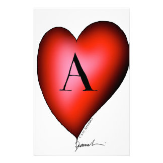 The Ace of Hearts by Tony Fernandes Personalised Stationery