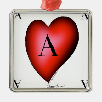 The Ace of Hearts by Tony Fernandes Silver-Colored Square Decoration