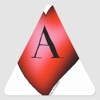 The Ace of Hearts by Tony Fernandes Triangle Sticker