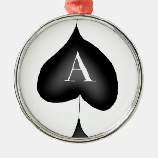 The Ace of Spades by Tony Fernandes Silver-Colored Round Decoration