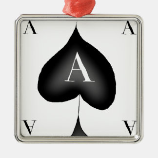 The Ace of Spades by Tony Fernandes Silver-Colored Square Decoration