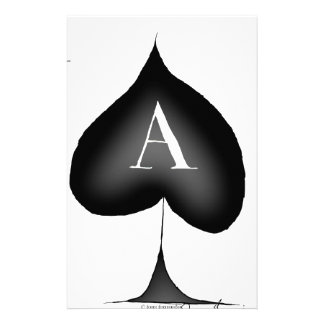 The Ace of Spades by Tony Fernandes Stationery Design