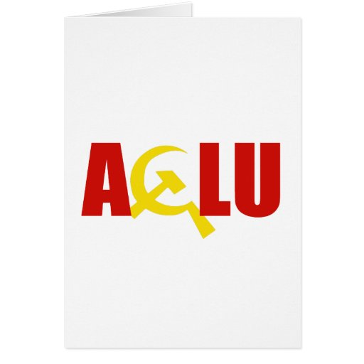 The ACLU is communist Greeting Card