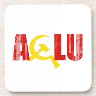 The ACLU is communist Faded.png Beverage Coasters