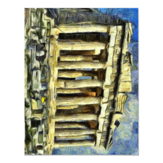 The Acropolis in Athens 11 Cm X 14 Cm Invitation Card