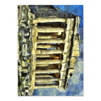 The Acropolis in Athens 11 Cm X 16 Cm Invitation Card