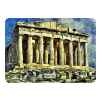 The Acropolis in Athens 13 Cm X 18 Cm Invitation Card