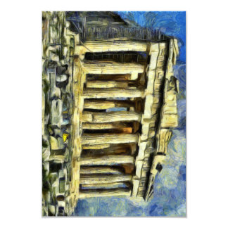 The Acropolis in Athens 9 Cm X 13 Cm Invitation Card