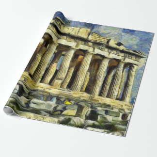 The Acropolis in Athens Wrapping Paper